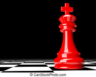 3d chess - fine image 3d of red chess background
