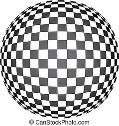 3D chess op art - Mosaic background illustration pop colours