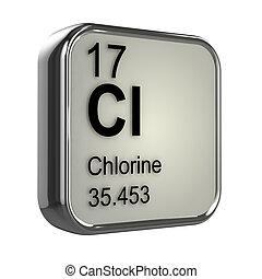 3d, chlor,  Element