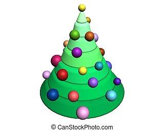 3d-christmas, 나무
