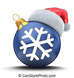 3d Christmas ball dark blue