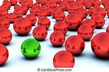 3D christmas ball green highlight