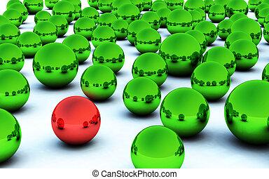 3D christmas ball red highlight