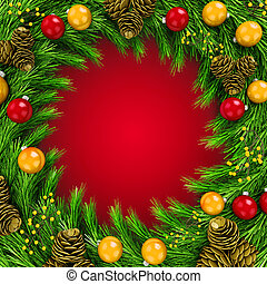 3d Christmas decoration background