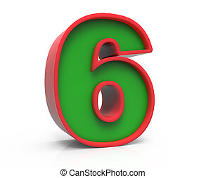 3d Christmas number 6