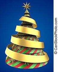 3d Christmas tree shape