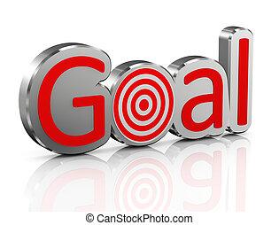 3d chrome goal with target