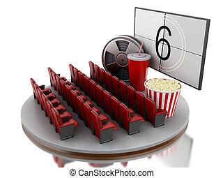 3d, cinema, filme, theater.