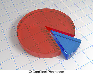 3d circle diagram from glass on the sheet