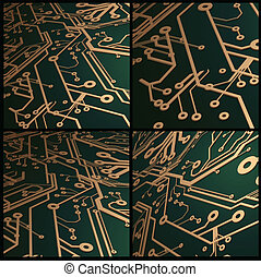 3D Circuit Board Vector Background