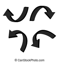 3D circular black arrow