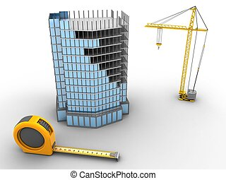 3d city building