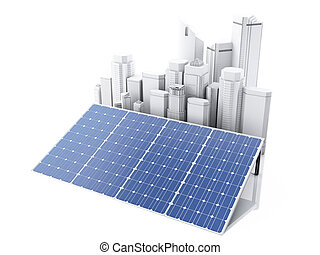 3d City with alternative energy.