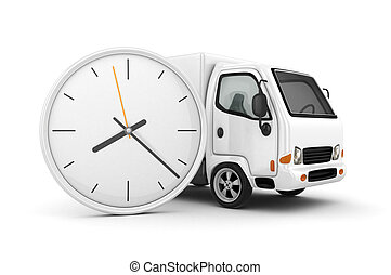 White Truck-Fast shipping - 3D Clock and White Truck-Fast...