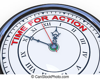 3d clock - time for action