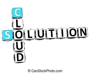 3D Cloud Solution Crossword