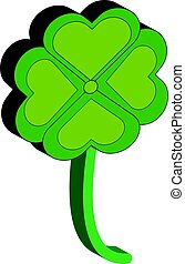 3D cloverleaf isolated on white background