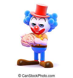 3d Clown brain