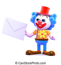 3d Clown gets mail