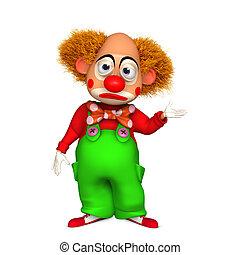 3d clown - cartoon clown
