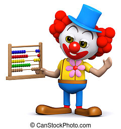 3d Clown with abacus