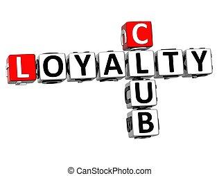 3D Club Loyalty Crossword