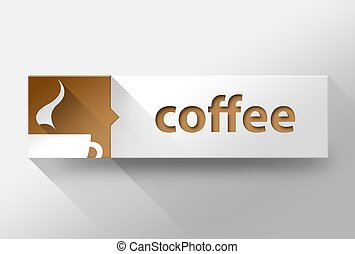3d Coffee concept flat design, illustration