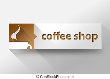 3d Coffee shop concept flat design, illustration