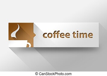 3d Coffee time flat design, illustration