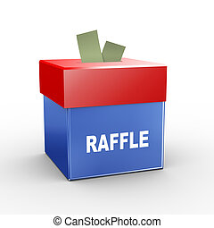 3d collection box - raffle - 3d illustration of collection...