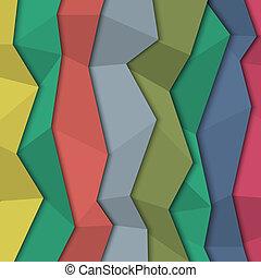 3d, coloró papel, plano de fondo, -, origami, estilo