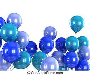 3d color helium balloon on white backround
