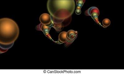3d color metal balls.