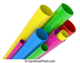 3d color pipes