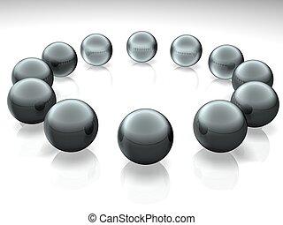 spheres  - 3d color spheres