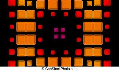 3d color square mosaics fancy pattern