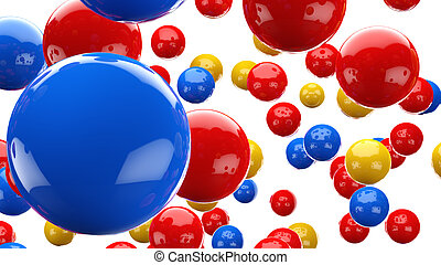 3D colored abstraction background