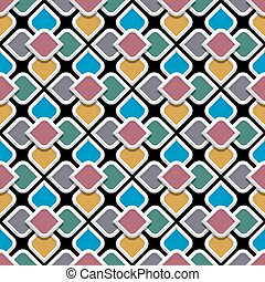 3d colored seamless pattern in arabic style