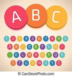 3D Colorful Alphabet. Vector Font