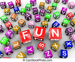 3d colorful alphabets blocks cubes word fun