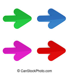 3d colorful arrows on white background