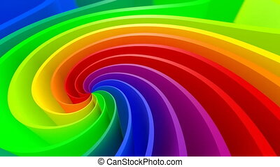 3D Colorful Background - 3D colorful abstract spiral 4K...