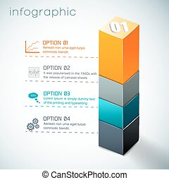 3d Colorful Column Infographics
