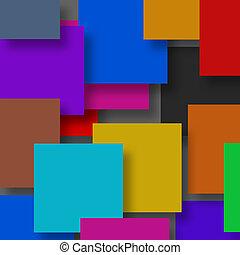 3d colorful cubes background.