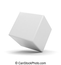 3d colorful cubes, on white background