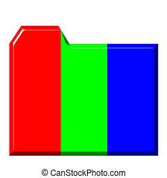 3d Colorful Folder