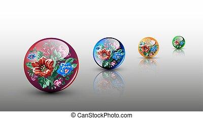 glassy spheres
