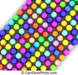 3d colorful glossy balls