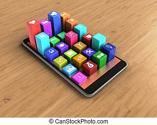3d colorful icons