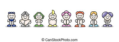 3d colorful small people. 3d image.